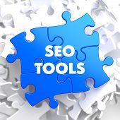 SEO Tools on Blue Puzzle.
