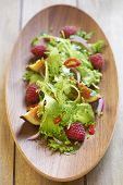 Fresh salad with raspberry and figs