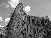 Basalt Organ Pipes In Black And White
