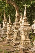 Old Tombstones In Luang Prabang