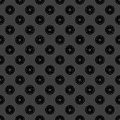 Photo camera diaphragm web icon. flat design. Seamless gray pattern.