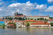 view on the Prague , Prague Castle, Czech Republic.