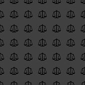 Scales balance web icon. flat design. Seamless gray pattern.