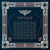 Label vector frame. Vintage tag decor medieval illustration