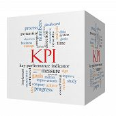 Kpi Word Cloud Concept On A 3D Cube