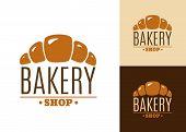 Croissant bakery emblem or logo