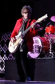 HUNTINGTON, NY-AUG 26: Bassist Tom Petersson of Cheap Trick performs in concert at the Paramount on