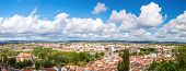 Panorama shot of Old Town Tomar, Portugal