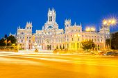 Plaza de la Cibeles (Cybele's Square) - Central Post Office (Palacio de Comunicaciones), Madrid, Spa