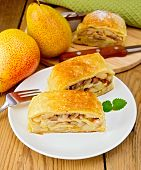 Strudel With Pears On Board