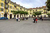 Baroque Architecture At Place Garibaldi, Nice