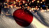 Japan National Flag Light Night Bokeh Abstract Background