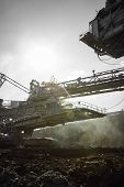 pic of dredge  - a huge working dredge in a mine - JPG