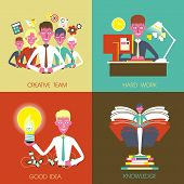 Flat Design For Business Concepts Graphic