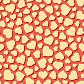 Hearts. Seamless pattern. Vector illustration. Can be used for wallpaper, web page background, web banners.