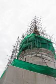 Reconstruct Pagoda In Phra Singha Temple Chiang Mail, Thailand