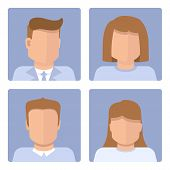 Vector Set Of Business Avatars
