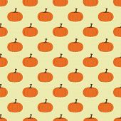 stock photo of wolf moon  - Seamless pattern with pumpkins - JPG