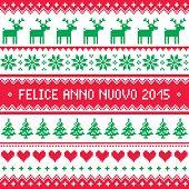 Felice Anno Nuovo 2015 - Italian happy New Year pattern