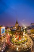 gateway china-town golden Buddha temple Bangkok Thailand