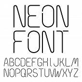 Black Neon Letters, Alphabet