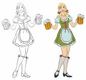 Oktoberfest - girl with beer