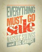 Everything must go sale design in retro style. Eps10.