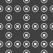 cancel  web icon. flat design. Seamless pattern.