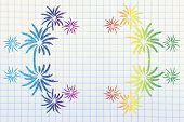 Fireworks Explosion Background With Copyspace