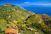 Landscape Near Town Taormina