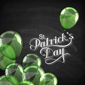 vector chalk typographical illustration of handwritten Saint Patricks Day label on the blackboard ba