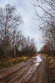 Autumn Roads Around Palekh, Vladimir Region, Russia