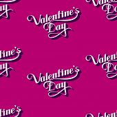 vector seamless pattern of handwritten St. Valentines Day retro labels. holiday lettering background