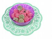 Isolated bowl with sugar candies