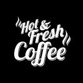 Coffee Background On Chalkboard
