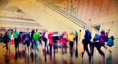 stock photo of commutator  - People Consumer Shopping Commuter Consumerism Crowded Concept - JPG