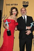 LOS ANGELES - JAN 25:  Alysia Reiner, Nick Sandow at the 2015 Screen Actor Guild Awards at the Shrine Auditorium on January 25, 2015 in Los Angeles, CA