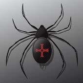 Black spider logo