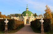 foto of grotto  - photo beautiful architectural monument of the grotto in a Moscow park - JPG