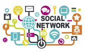 Global Technology Networking Connection Communication Social Network Concept