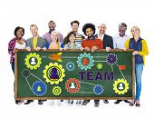 People Collaboration Connection Togetherness Gear Corporate Team Concept