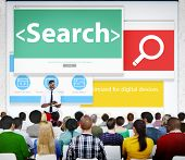 Search Networking SEO Web Seminar Conference Learning Concept