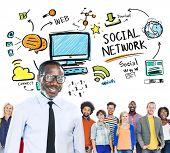 Social Network Social Media Diversity People Leadership Concept