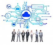 Business People and Cloud Computing Concepts