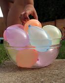 Water balloons in a bowl