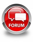 Forum Glossy Red Round Button