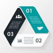 Triangle infographic. Diagram, graph, presentation.