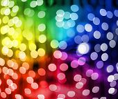 Defocused multicolored Christmas lights ideal for backgrounds