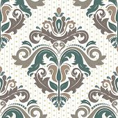Damask Seamless  Pattern. Orient Background