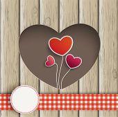 Heart Hole Hearts Balloons Wood